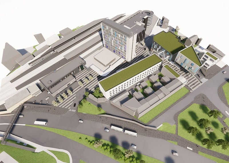 Plymouth Train Station Masterplan Aerial